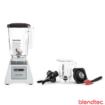 Blendtec Total Blender with Wildside+ Jar and Twister Jar in White