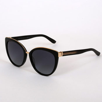 Jimmy Choo Black Sunglasses with Grey Lenses, DANA/S 10EHD
