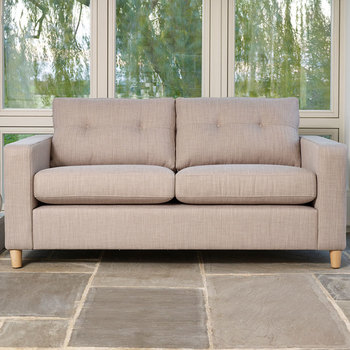 Metro 3 Seater Fabric Sofa, Linen