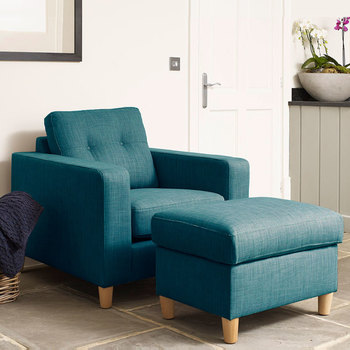 Metro Fabric Armchair, Teal