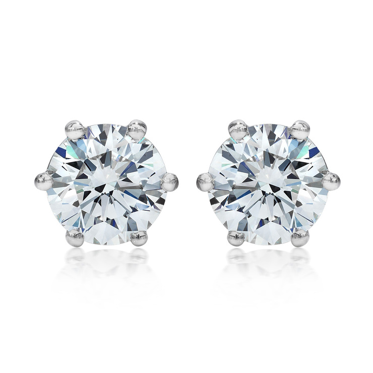 and in earrings stud milgrain platinum gold halo available