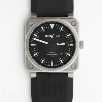 Bell & Ross Gents Horograph Watch BR0392-HOR-BLC/SRB