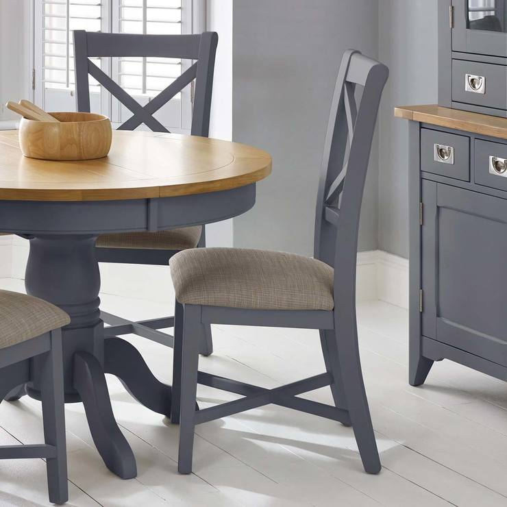 info for b6fa4 ed1b2 Bordeaux Painted Taupe Double Cross Back Dining Chairs, 2 Pack | Costco UK