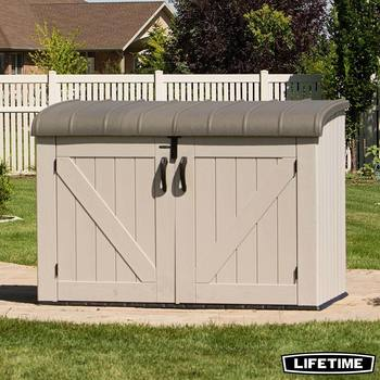 "Lifetime 6ft 2"" x 3ft 4"" (2.3 x 1m) Horizontal 2124 Litre Storage Shed"