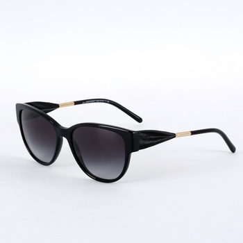 Burberry Gabardine Collection Black Sunglasses with Grey Lenses, BE4190 3001/8G