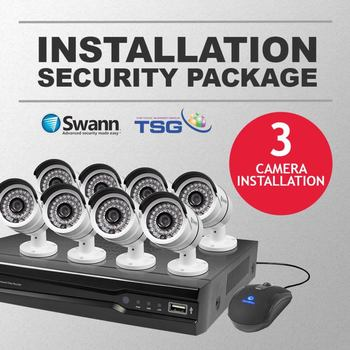 TSG CCTV Installation Package for 3 Cameras