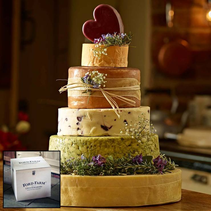 The Dorchester 6 Tier Cheese Celebration Cake 15kg Serves 150