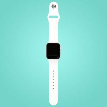 Apple Watch Series 2, White Ceramic Case with Cloud Sport Band in 2 Sizes