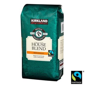 Kirkland Signature Starbucks Fairtrade House Blend Whole Bean Coffee, 907g
