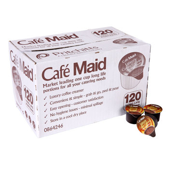 Café Maid Long Life Luxury Coffee Creamer, 120 x 12ml