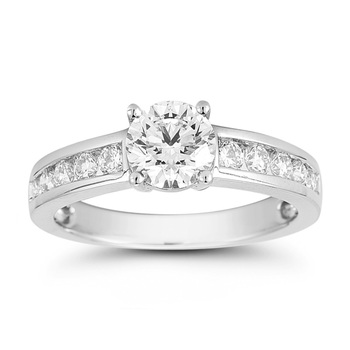 1.50ctw Round Brilliant Cut Diamond Ring, Platinum