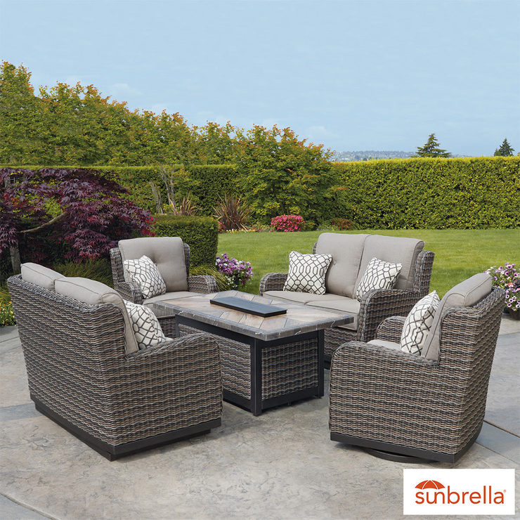 Costco Garden Furniture Uk Agio eastport 5 piece woven fire chat set cover costco uk agio eastport 5 piece woven fire chat set cover workwithnaturefo