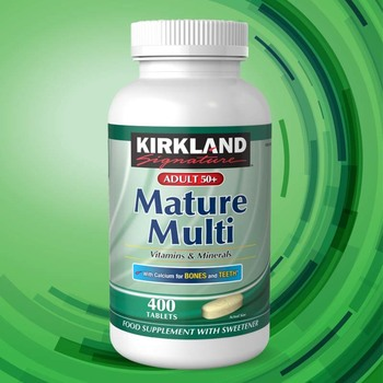 Kirkland Signature Adult 50+ Mature Multivitamins & Minerals, 400 Tablets (13 Months Supply)