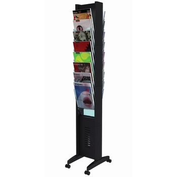 Fast Paper Black Floorstanding Display with 16 Compartments 278N.01