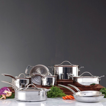 Kirkland Signature Try-Ply Clad Stainless Steel Induction 13 Piece Cookware Set