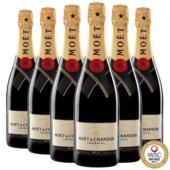 Moët & Chandon Brut Imperial NV Champagne, 6 x 75cl