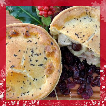 Tom's Pies Turkey, Smoked Ham Hock & Cranberry Christmas Pies, 12 x 260g
