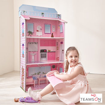 Teamson Kids Glamour Mansion Fold-In Dollhouse (3+ Years)