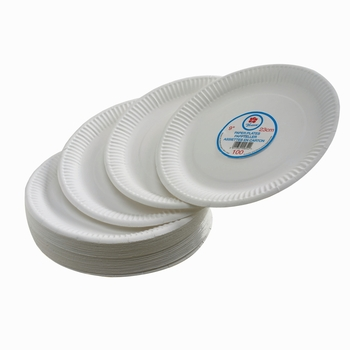 "CPD Pack of 100 Paper Plate 7"" White"