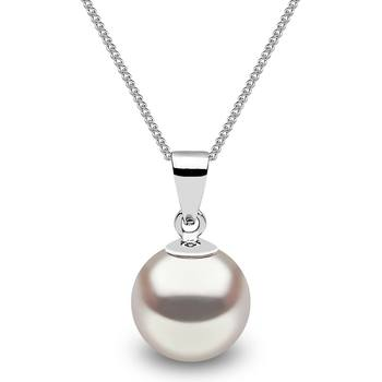 8.5-9mm Cultured Freshwater White Pearl in 18ct White Gold Necklace