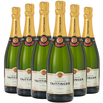 Taittinger Brut Reserve NV Champagne, 6 x 75cl with Gift Boxes