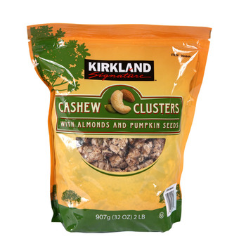 Kirkland Signature Cashew Clusters with Almonds & Pumpkin Seeds, 907g