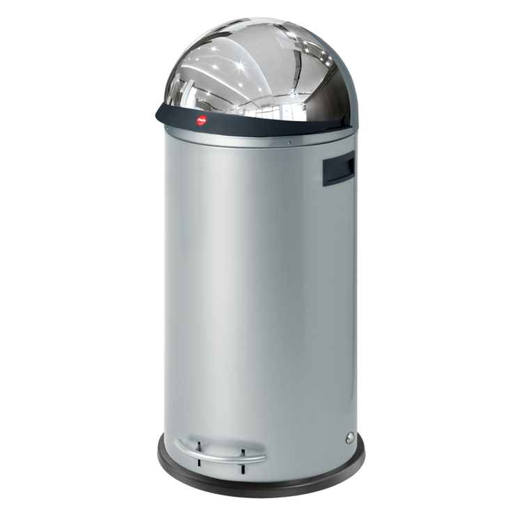 hailo kickvisier 50 litre wide opening metal pedal waste bin in silver costco uk. Black Bedroom Furniture Sets. Home Design Ideas