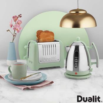 Dualit Lite Kettle and 2-Slot Toaster Set in Pistachio
