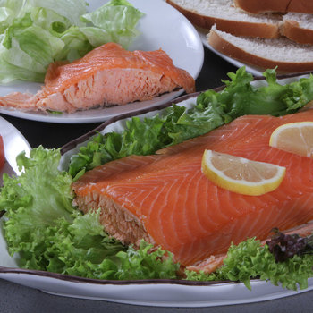 Coln Valley Poached Scottish Salmon Dressed with Smoked Salmon, 1.1kg (Serves up to 20)