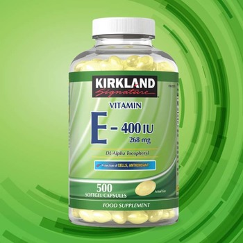 Kirkland Signature Vitamin E 268mg, 500 Softgel Capsules (16 Months Supply)