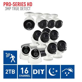 Swann DVR16-4780 16 Channel Digital Video Recorder with 10 x PRO-3MPMSB Bullet Cameras & 2 x PRO-3MPMSD Dome Cameras