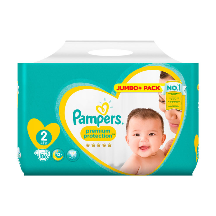 Pampers Premium Protection Size 2 86 Jumbo Pack Costco Uk