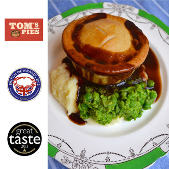 Tom's Pies Steak & Exeter Ale Pies, 12 x 260g (Serves 12 people)