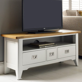 Bordeaux Painted Ivory TV Stand For TVs Up to 49""