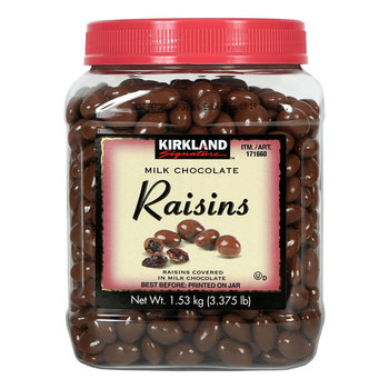 Kirkland Signature Milk Chocolate Raisins, 1.53kg