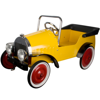 Great Gizmos Yellow Classic Pedal Car Ride On - Model 8311 (3+ Years)