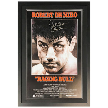 Jake LaMotta Signed Framed Raging Bull Film Poster