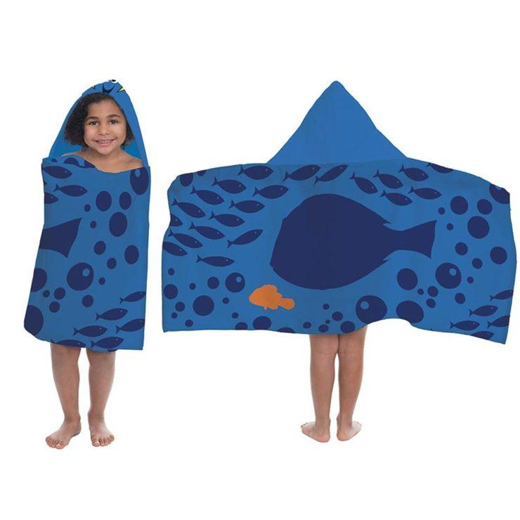 Finding Nemo Bath Towel Set: Disney 100% Cotton Hooded Towel, Finding Nemo
