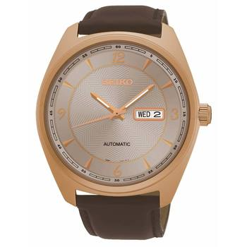 Seiko Rose Gold Plated Gents Watch SNKN72P9