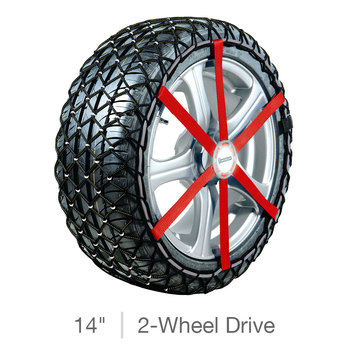 "Michelin Snow Chains for 14"" Wheels 2-Wheel Drive Cars"