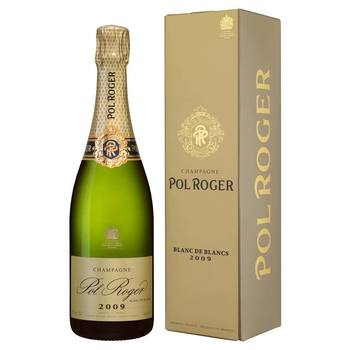 Pol Roger Blanc de Blancs 2009, 75cl with Gift Box