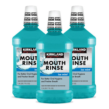 Kirkland Signature Mouth Rinse, 3 x 1.5L