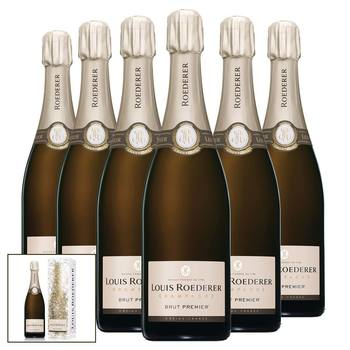 Louis Roederer Brut Premier NV Champagne, 6 x 75cl with Gift Boxes