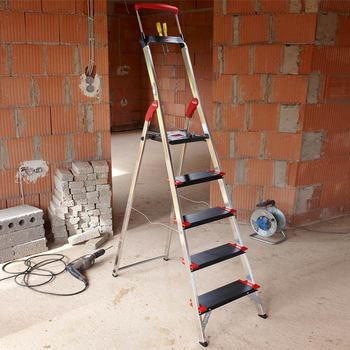 Hailo XXR 225 ChampionsLine 5 Tread Extra Deep Step Ladder