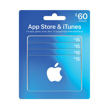 Apple iTunes Gift Cards, 4 x £15