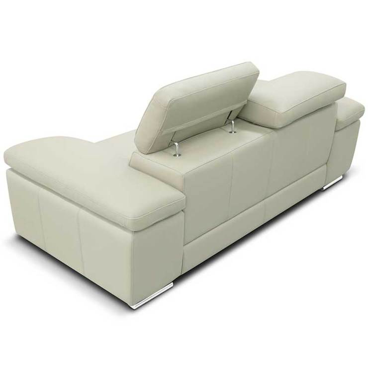 Shop Bryce White Italian Leather Sofa And Two Chairs: Nicoletti Lipari Cream Italian Leather 3 Seater Sofa