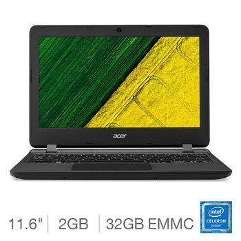 "Acer Aspire ES1-132 Intel Celeron, 2GB RAM, 32GB eMMC Hard Drive 11.6"" Notebook"