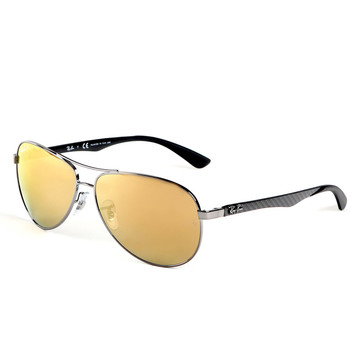 Ray-Ban Gunmetal Sunglasses with Polarised Gold Mirrored Lenses, RB8313 004/N3