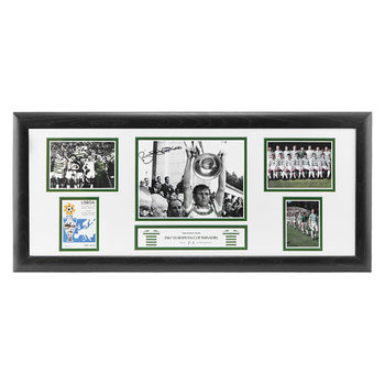 Billy McNeill Signed Framed Celtic 1967 European Cup Winners Storyboard