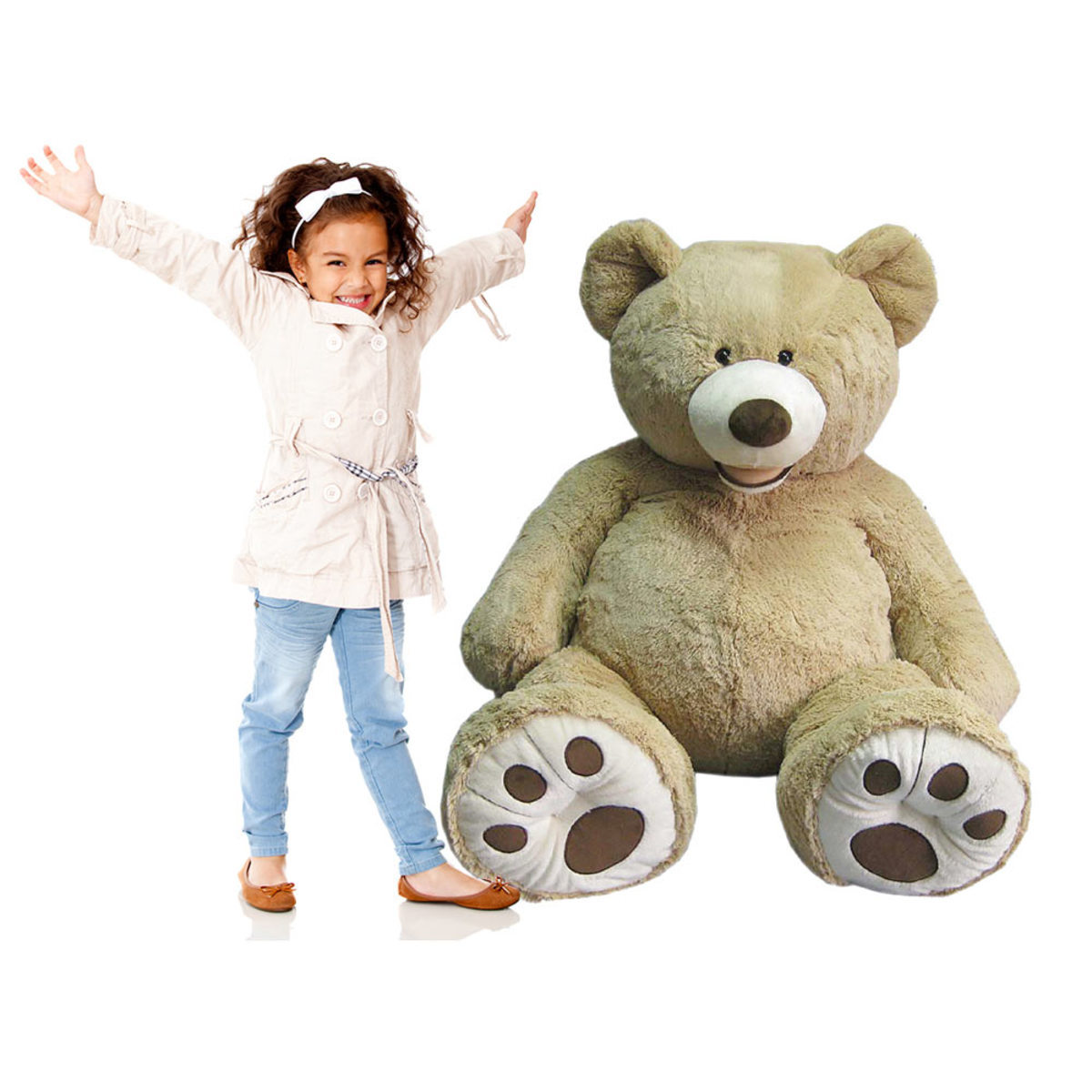 Blue Big Teddy Bear, Hugfun 53 134cm Plush Sitting Bear Blonde 3 Years Costco Uk